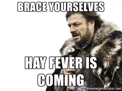 hayfever is coming